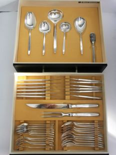 GERO 100 Zilvium - heavy silver plated serving cutlery -cutlery for 6 people - design: Dick Simonis, Model: Excellence
