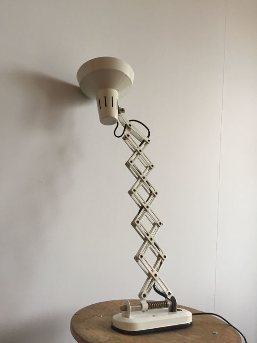 Beautiful, retro harmonica lamp, second half of the previous century