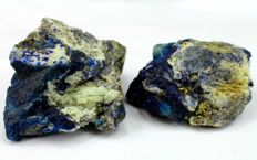 Top Grade Royal Blue Lazurite and Fluorescent Afghanite with Golden Pyrite & Calcite - 433 gm (2)
