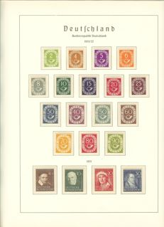 "Federal Republic of Germany - 1949 - 1981 - complete collection with ""post horn set"", verified Schlegel BPP in Leuchtturm springback binder"