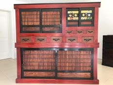 Original Japanese kitchen cupboard, mizuya tansu, Japan, circa 1900-1910 (end of the Meiji period)