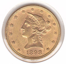 United States - 10 dollars 1898 Liberty - Gold
