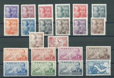 Spain 1939 - Complete year - Edifil 867/888