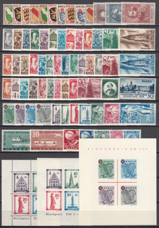 French Zone, Baden - 1945/1949 - Collection of stamps and sheets