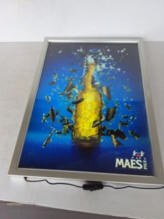 Illuminated advertising sign Maes 2002