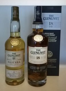 2 bottles - The Glenlivet 'Nàdurra' 16 Cask Strength & The Glenlivet 18