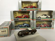 Box - Scale 1/43 - Lot with 6 Ferrari models: 3 x GTO, 275 GTB, 250 LM & 365 P2