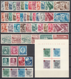 French Zone Württemberg 1947–1949 Collection of stamps and Block Sheet
