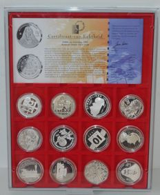 Europe - Official Euro collection 'Europe on the way to 2000' (12 coins) - silver