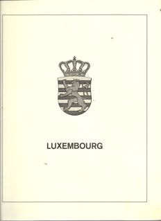 Luxembourg 1944/1990 - Collection on Lindner Falzlos sheets and stock book