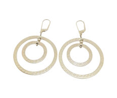 14 kt/585 gold earrings, Greek design, creole hoops ***no reserve price***