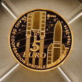 "France - 5 Euro 2-14 ""Europa - European Cooperation in Space"" - Gold"