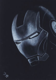 Iron Man By Diego Septiembre - Original Drawing
