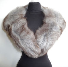 Beautiful soft fox fur stole, fur collar, cosy fox fur