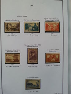 France 1940–1949 - Collection of 10 years of stamps, very few gaps - Yvert no. 451 to 862