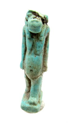 Ancient Egyptian Faience Teret Amulet - 32 mm