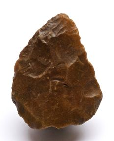 Middle Palaeolithic biface from France - 77 x 58 mm