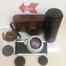 Leica lll 1936 with case and Leica Hektor Lens  TOP