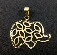 18 kt yellow gold elephant Matte/shiny *No reserve price*