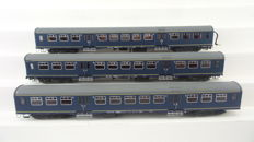 Artitec H0 - 20.161.01/20.161.02 - Set of three carriages Plan W 2nd class of the NS