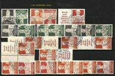 German Reich se-tenant stamps professions 1934 K 23 – W 101 and KZ 22.2 – W 67 complete.