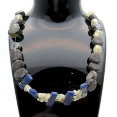 Medieval Viking period Necklace with Coloured Glass Beads - Wearable Gift with Gift Bag - 420 mm