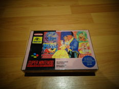 Super Nintendo - Disney's Beauty and the Beast In good condition rare FAH Version
