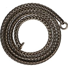 Trollbeads - 925/1000 Silver foxtail link necklace by the brand Trollbeads.  Length x width: 43.5 x 0.3 cm