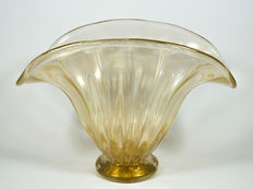 Alberto Donà (Murano) - Centrepiece bowl in crystal/24 kt gold