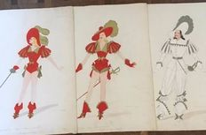 Umberto Onorato (1898 - 1967) Drawings for Italian theatre (lot of three drawings)