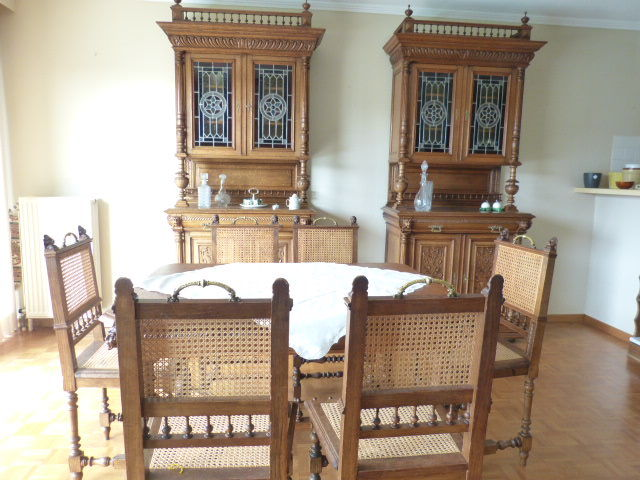 Dining Room From Mechelen Consisting Of 2 Cabinets A Table And 6