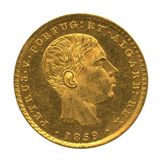 Portugal – Monarchy – D. Pedro V – 2,000 Réis 1859 – Gold
