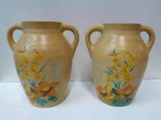 Brentleigh, two ceramic vases - Etruscan