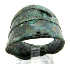 Viking Bronze Warriors Ring - WEARABLE GIFT WITH GIFT BAG - 21mm