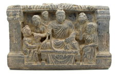 Gandhara Stone Panel with praying Buddha  - 265 x 170 mm