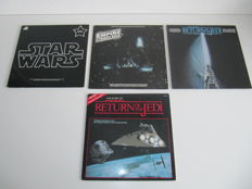Star Wars Lot of 3 Soundtrack LP's & 1 Story LP - John Williams
