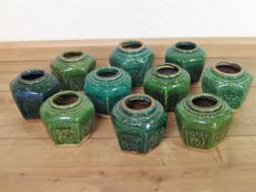 Ten ginger jars - China - around 1900