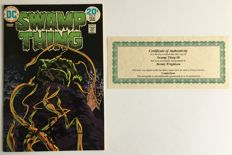 DC Comics - Swamp Thing #8 - Signed by Bernie Wrightson - Includes Certificate Of Authenticity - 1x sc - (1974)