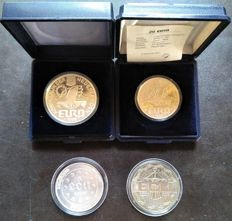 Holland - Lot of euros and ecus 1987-1991-1996 - Silver and copper - Nickel