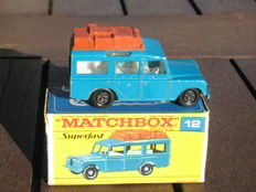 Lesney Matchbox Superfast - Scale unknown - Safari Land Rover 12c, super rare transitional model