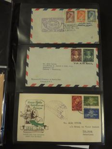 Netherlands and Overseas - Collections in four albums and a ring binder
