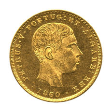 Portugal Monarchy – D. Pedro V – 2.000 Réis 1860 – Gold