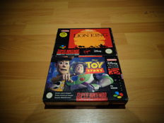 "Super Nintendo Games ""The Lion King""and ""Disney's Toy Story"""