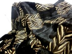 Handmade by a furrier - exclusive XXL MINK fur blanket