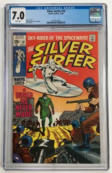 Marvel Comics - The Silver Surfer #10 - CGC 7.0 graded - 1x sc - (1969)