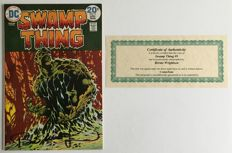 DC Comics - Swamp Thing #9 - Signed by Bernie Wrightson - Includes Certificate Of Authenticity - 1x sc - (1974)