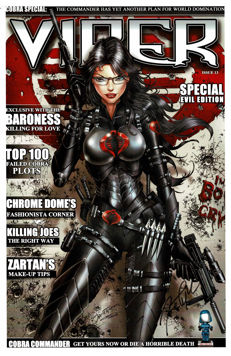 Jamie Tyndall - Signed Limited Edition - The Baroness - The Rise of Cobra (2009 Movie) - VIPER Magazine Cover