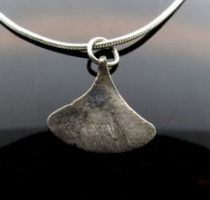 Medieval Viking Period Silver Axe Shaped Pendant  - WEARABLE GIFT WITH GIFT BAG - 14 mm