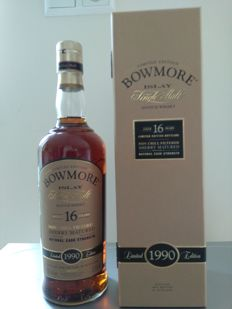 Bowmore 16 years vintage 1990 sherry matured - discontinued
