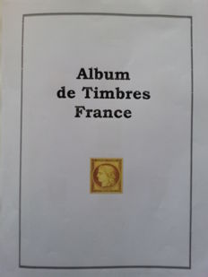 Frane 1849–1939 - Collection of stamps on pre-printed album